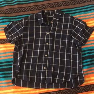 Abercrombie and Fitch Short Sleeve Plaid Top